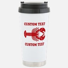 CUSTOM TEXT Lobster Travel Mug