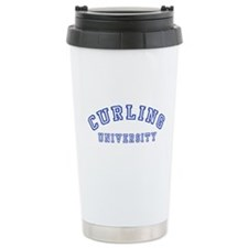 Curling University Travel Mug