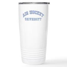 Air Hockey University Travel Mug