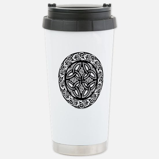 Celtic Shield Stainless Steel Travel Mug
