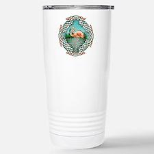 Celtic Flamingo Art Stainless Steel Travel Mug