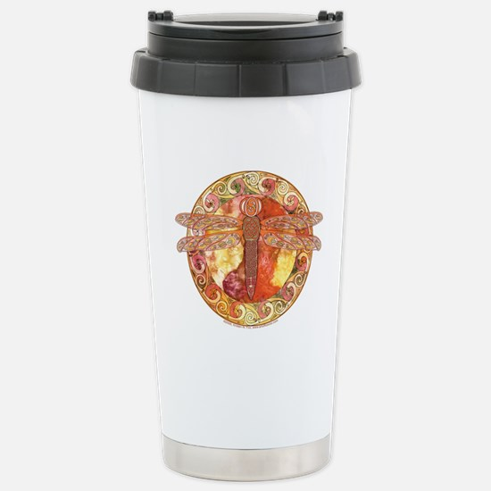 Warm Celtic Dragonfly Stainless Steel Travel Mug
