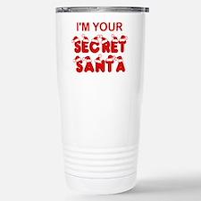 Secret Santa Stainless Steel Travel Mug