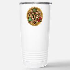 Celtic Reindeer Shield Stainless Steel Travel Mug