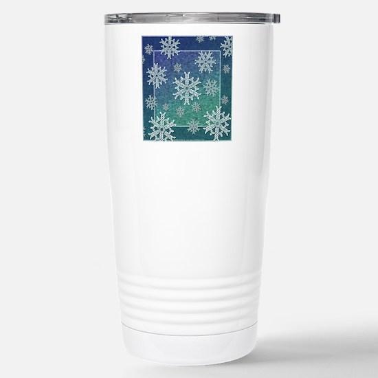 Celtic Snowflakes Stainless Steel Travel Mug