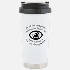 Loses An Eye Travel Mug
