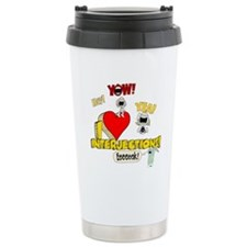 I Heart Interjections Travel Coffee Mug