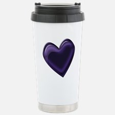 Black Jelly Heart Travel Mug