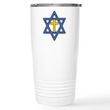 Star of David with Cross Thermos Mug