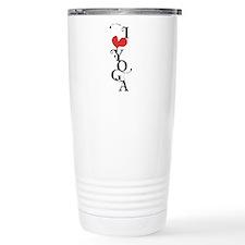 I Love (heart) Yoga Travel Mug