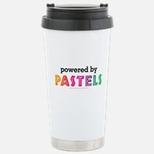 Powered By Pastels Stainless Steel Travel Mug