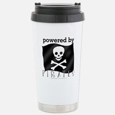 Powered By Pirates Stainless Steel Travel Mug