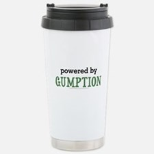 Powered By Gumption Stainless Steel Travel Mug