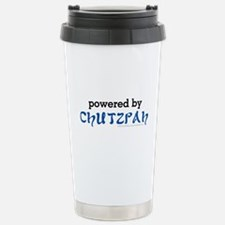 Powered By Chutzpah Stainless Steel Travel Mug