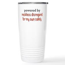 Powered By Reckless Disregard Travel Mug