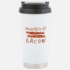 Powered By Bacon Stainless Steel Travel Mug