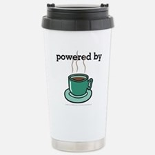 Powered By Coffee Stainless Steel Travel Mug