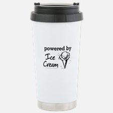 Powered By Ice Cream Stainless Steel Travel Mug