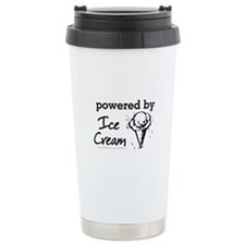 Powered By Ice Cream Travel Coffee Mug