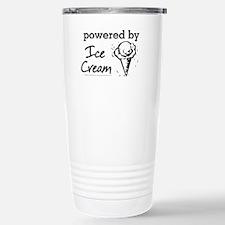 Powered By Ice Cream Travel Mug