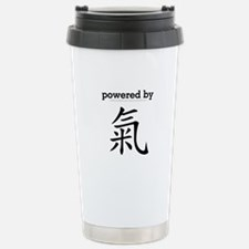 Powered By Qi (Chi) Stainless Steel Travel Mug