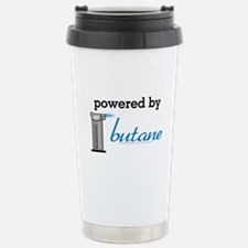 Powered By Butane Stainless Steel Travel Mug