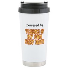 Powered By Visions Fiery Death Travel Mug
