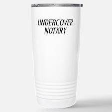 Undercover Notary Travel Mug