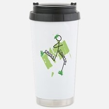 Cute Cross Country Runner Stainless Travel Mug