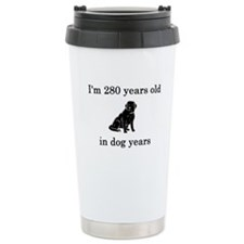 40 birthday dog years black lab Travel Mug