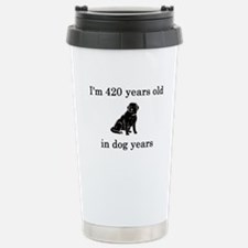 60 birthday dog years lab Stainless Steel Travel M