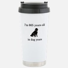 95 birthday dog years lab Stainless Steel Travel M