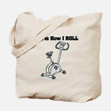 How I Roll (Exercise Bike) Tote Bag