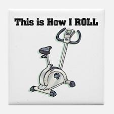 How I Roll (Exercise Bike) Tile Coaster