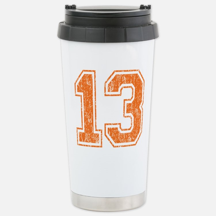 Retro 13 Number Stainless Steel Travel Mug