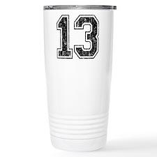 Retro 13 Number Travel Coffee Mug