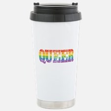 RETRO-queer_TR.png Stainless Steel Travel Mug