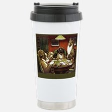 Waterloo Dog Poker Travel Mug