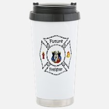 Future Firefighter Dalmatian Stainless Steel Trave
