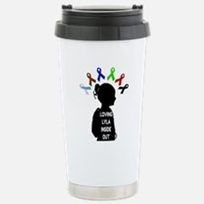 Gastroschisis awareness ribbon Travel Mug