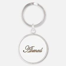 Gold Ahmed Round Keychain