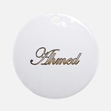 Gold Ahmed Round Ornament