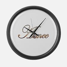 Gold Aimee Large Wall Clock