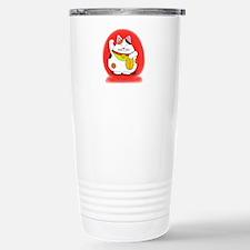 Good Luck Maneki Neko Stainless Steel Travel Mug