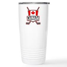 Canadian Hockey Shield Logo Travel Mug