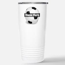 Personalized Soccer Ball Travel Mug