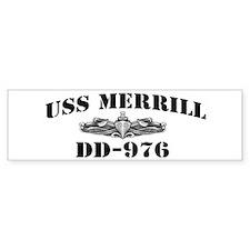 USS MERRILL Bumper Sticker