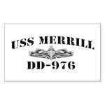 USS MERRILL Sticker (Rectangle)