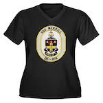 USS MERRILL Women's Plus Size V-Neck Dark T-Shirt