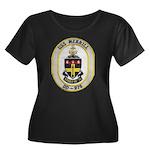 USS MERR Women's Plus Size Scoop Neck Dark T-Shirt